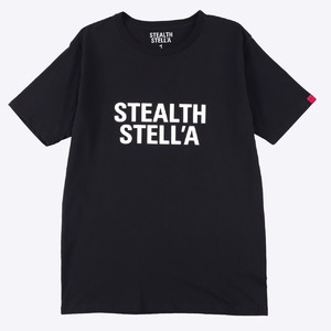 【STEALTH STELL'A】BASIC LOGO TEE (BLACK)