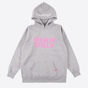 【STEALTH STELL'A】 BASIC LOGO HOODIE (GRAY)