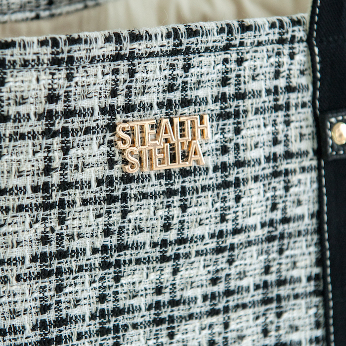 【STEALTH STELL'A】CHECK TOTO(BLACK)