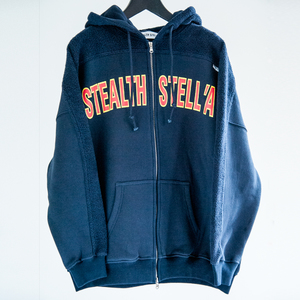 【STEALTH STELL'A】COLLEGE-HOODIE(NAVY)