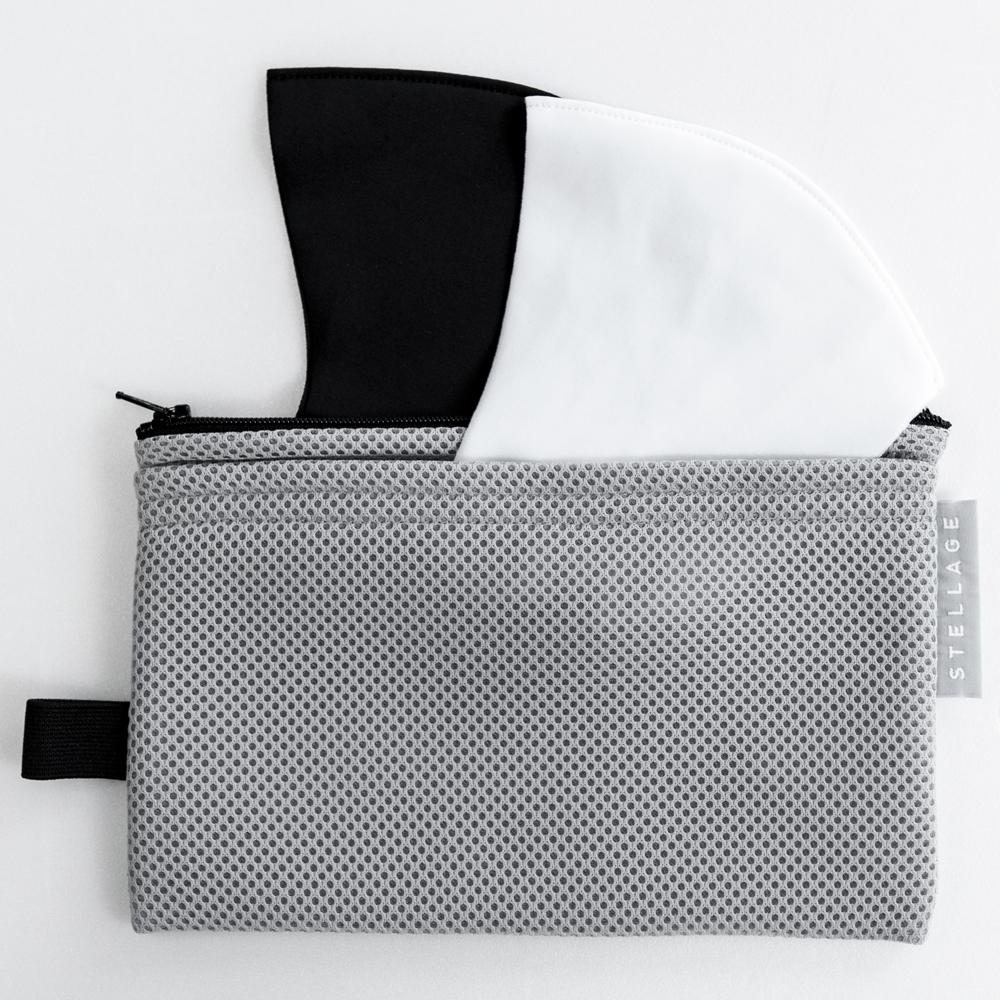 【STELLAGE】そのまま洗えるマスクケース(L.GRAY)