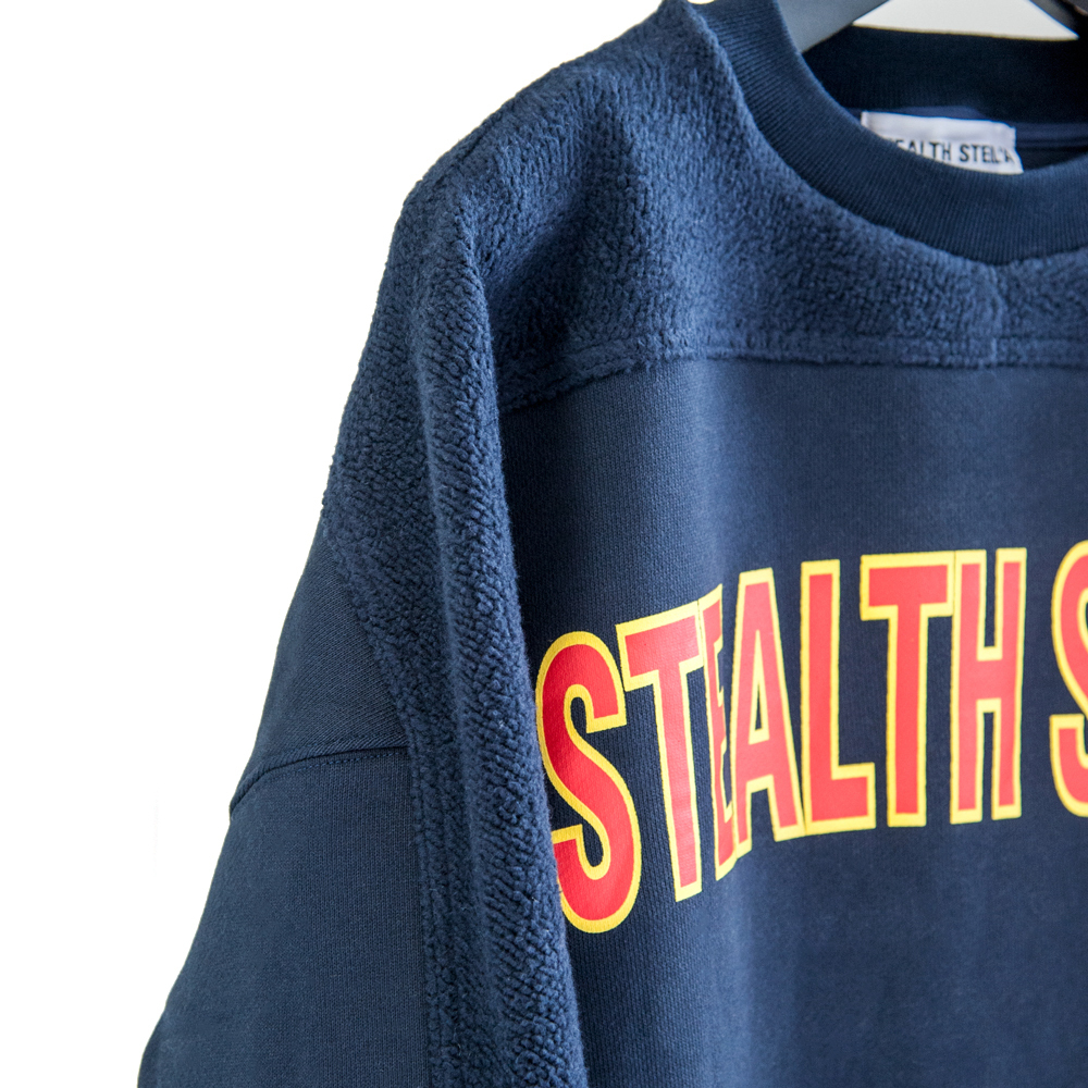 【STEALTH STELL'A】COLLEGE-CREW(NAVY)