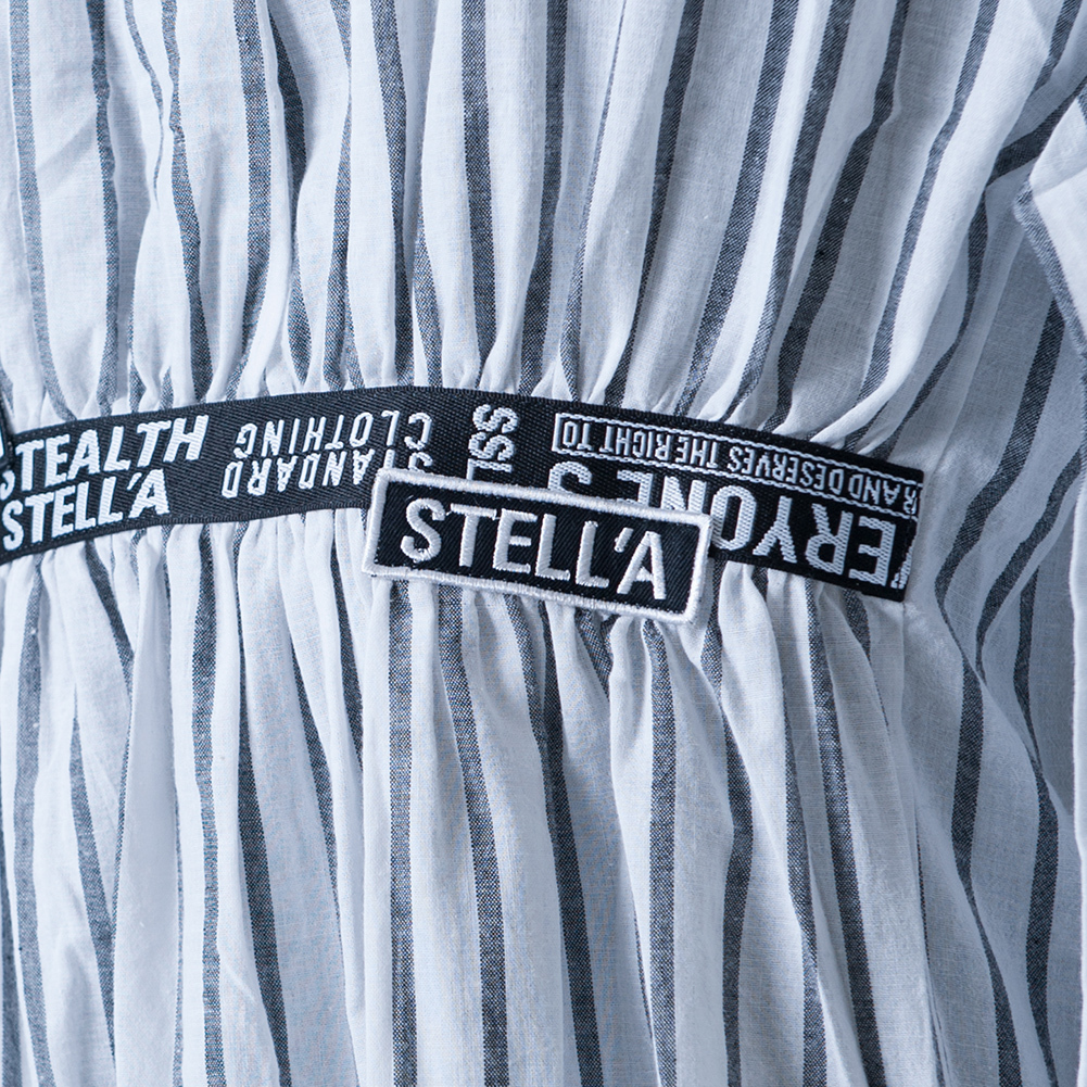 【STEALTH STELL'A】BELTED-SHIRTS ONEPI(WHITE)